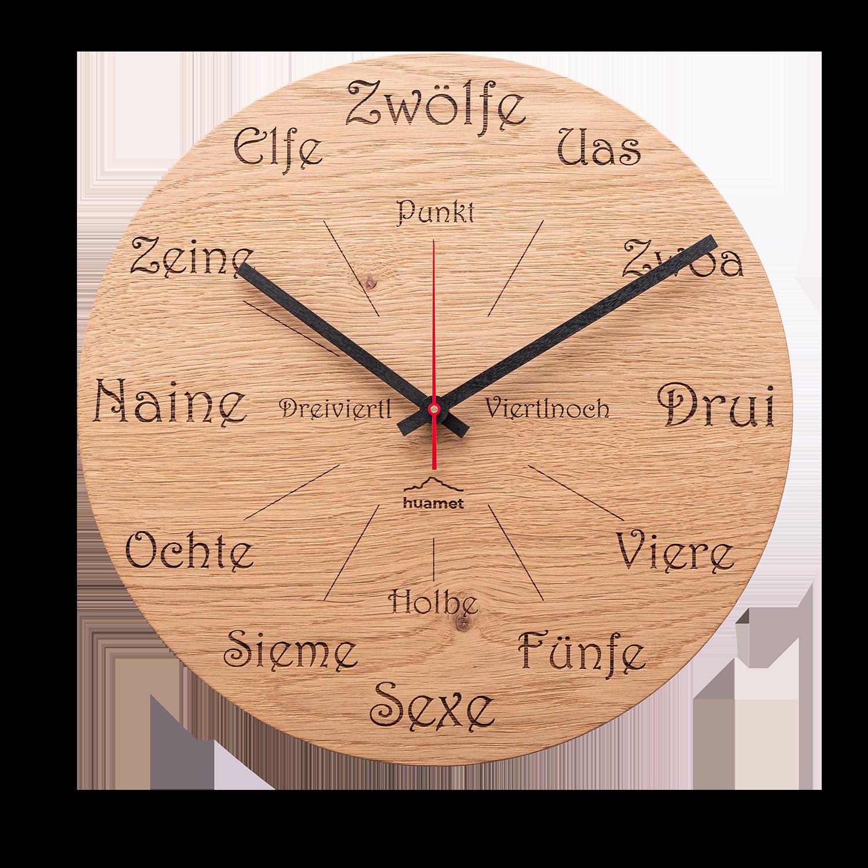 CH50-A-1605 Uhrform Eiche Astig, rund