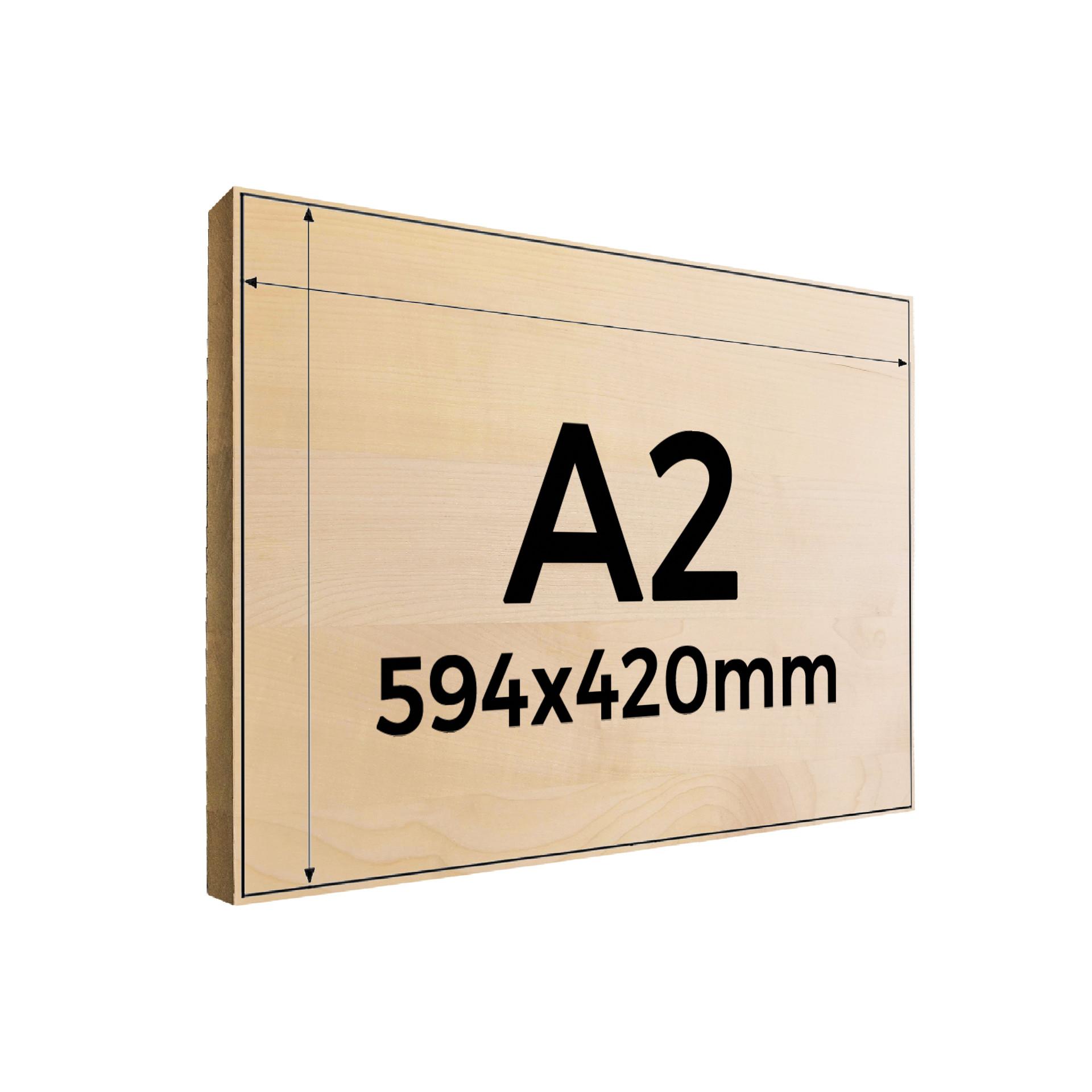 Fotogravur auf Holz A2