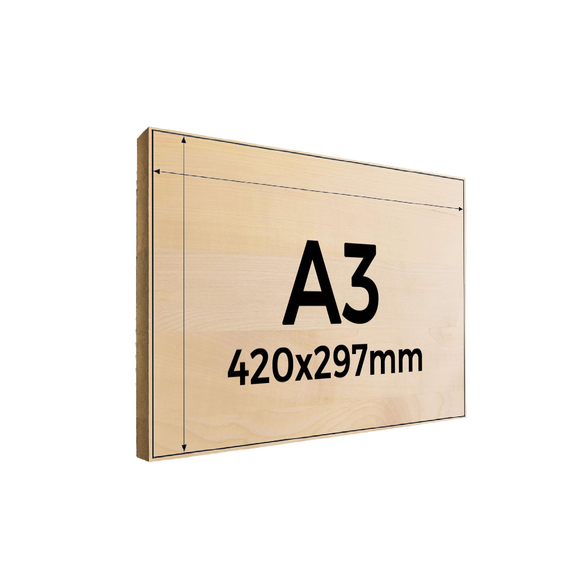 Fotogravur auf Holz A3